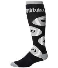 Thirtytwo Game Day Sock Black Men's Crew Cut Socks Shoes