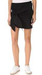 Marques Almeida Denim Knotted Mini Skirt Black