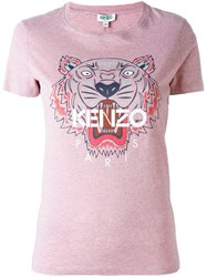 Kenzo 'Tiger' T Shirt Pink And Purple