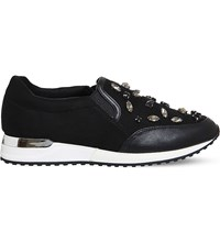 Office Pansy Gem Jewel Trainers Black