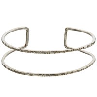 People Tree Double Bangle Silver