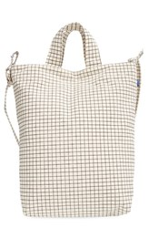 Baggu 'Duck Bag' Canvas Tote Ivory Natural Grid