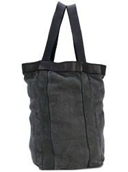 Guidi Square Backpack Unisex Linen Flax Leather One Size Black
