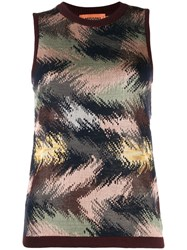 Missoni Sleeveless Knitted Top Brown