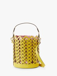 Kate Spade New York Dorie Leather Small Bucket Bag Chartreuse