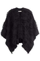 Burberry Shoes And Accessories Wool Cashmere Cape Black