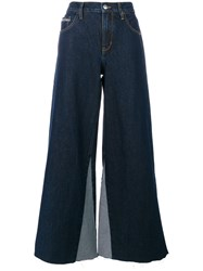 Ck Calvin Klein Jeans Flared Jeans With Frayed Edges Cotton Blue