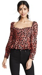 Lioness Sweethearts Top Red Leopard