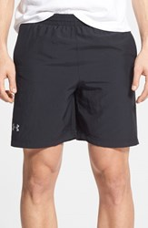 Under Armour Men's 'Launch' Heatgear Woven Running Shorts Black Reflective