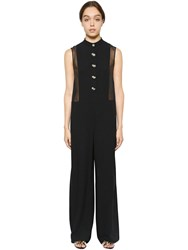 Lanvin Sable Jumpsuit With Sheer Chiffon Sides