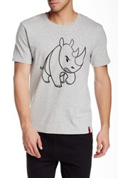 Ecko Unlimited Catroon Rhino Short Sleeve Tee Gray