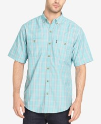 G.H. Bass And Co. Men's Explorer Fancies Yarn Dyed Plaid Performance Shirt Meadowbrook