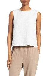 Eileen Fisher Women's Linen Shell White
