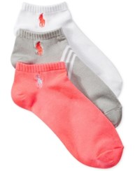 Polo Ralph Lauren Women's 3 Pk. Diagonal Stripe Socks Light Grey Assorted