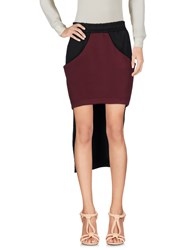 Mnml Couture 3 4 Length Skirts Maroon