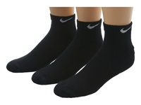 Nike Cotton Cushion Low Cut With Moisture Management 3 Pair Pack Black White Men's Low Cut Socks Shoes