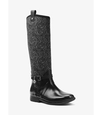 Charm Tweed And Rubber Rain Boot