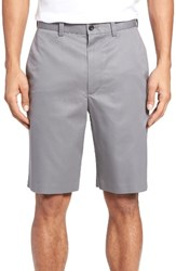Nordstrom Men's Big And Tall Men's Shop Flat Front Supima Cotton Shorts Grey Shade