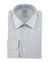 Ike Behar Check Woven Dress Shirt Gray