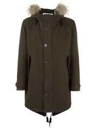 Dondup Fur Collar Parka Green