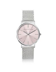 Sean Statham Stainless Steel Unisex Quartz Watch W Rose Dial Pink