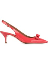 Red Valentino Pointed Toe Bow Pumps Pink And Purple