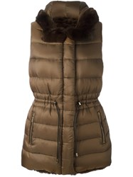 Yves Salomon Reversible Padded Gilet Brown