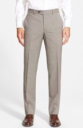 Men's Nordstrom Flat Front Houndstooth Wool Trouser