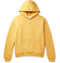Fear Of God Oversized Loopback Cotton Jersey Hoodie Yellow