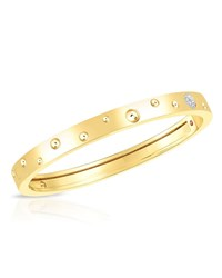 Roberto Coin Pois Moi Luna 18K Gold Thin Bangle