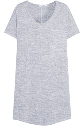 Rag And Bone Rag And Bone Melrose Stretch Knit Mini Dress Light Gray