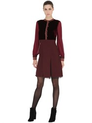 Tommy Hilfiger Collection Velvet And Wool Crepe Dress