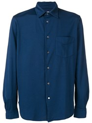 Aspesi Button Up Shirt Blue