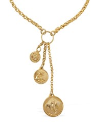 Paco Rabanne Manta Coin Necklace Gold