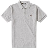 A Bathing Ape Ape Head One Point Polo Grey
