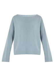 Vince Boat Neck Cashmere Sweater Light Blue