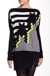 L.A.M.B. Houndstooth Intarsia Cocoon Sweater Multi