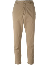 Hope Folded Hem Cropped Trousers Nude Neutrals