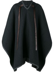 Dolce And Gabbana Hooded Cape Grey