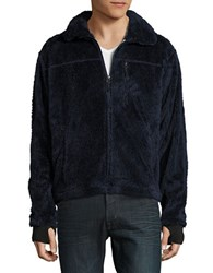 Hawke And Co Nord Zip Up Fleece Dark Sea