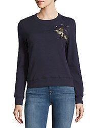 Saks Fifth Avenue Red Crewneck Long Sleeve Pullover Navy