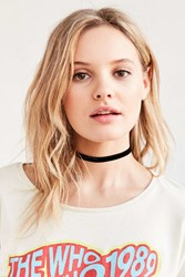 Urban Outfitters Claire Velvet Choker Necklace Black