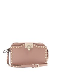 Valentino Rockstud Leather Cross Body Bag Nude