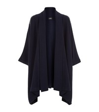 William Sharp Swarovski Crystal Cape Cardigan Female Navy