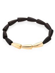 Vhernier Calla Wood And 18K Rose Gold Necklace Rose Gold Black
