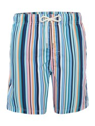 Howick Multi Stripe Swim Shorts Multi Coloured