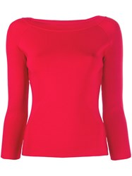 Emporio Armani Three Quarter Sleeve Fitted Top 60