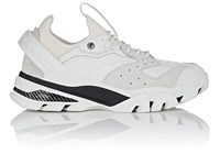 Calvin Klein 205W39nyc Rubber Strap Leather And Suede Sneakers White