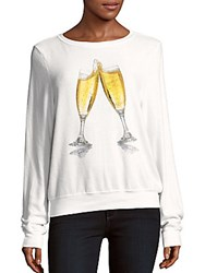 Wildfox Couture Toast Graphic Sweater Clean White