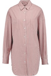 Stella Jean Striped Cotton Shirt Brick